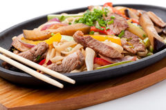 Udon with beef Stock Photography