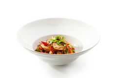 Udon with Chicken Royalty Free Stock Images