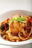 Udon con il pollo Immagini Stock