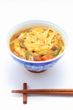 Udon cooked with curry topping Royalty Free Stock Images