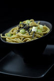 Udon, Japanese noodle soup. Bowl of Udon, Japanese noodles in broth Stock Photography