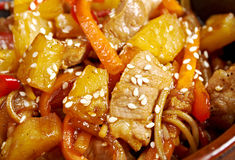 Udon with meat and vegetables Stock Photography