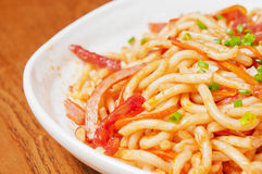 Udon noodle Stock Photo