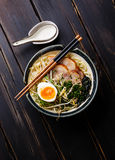 Udon noodle with boiled pork Royalty Free Stock Photography