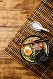 Udon noodle with boiled pork Royalty Free Stock Photo