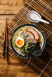 Udon noodle with boiled pork Stock Image