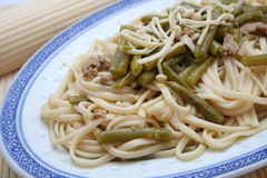 Udon noodles Stock Photo