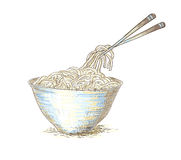 Udon noodles Royalty Free Stock Photography