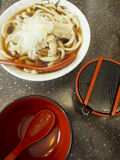 Udon Noodles. Udon noodle soup is a very popular meal in Japan Royalty Free Stock Photo
