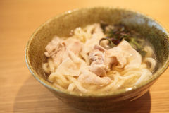 Udon noodles with pork Royalty Free Stock Photo