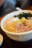 Udon Noodles Ramen with pork Stock Photos