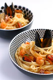 Udon noodles  with seafood Royalty Free Stock Photo
