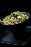 Udon, sopa de tallarines japonesa Fotografía de archivo