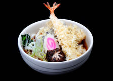 Udon tempura, Japanese noodles with shrimp tempura Stock Photo