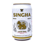UDON THANI, ТАИЛАНД - 17-ОЕ СЕНТЯБРЯ 2015: Смогите острословия пива Singha Стоковое Изображение