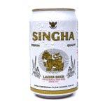 UDON THANI, THAILAND - SEPTEMBER 17, 2015: Kan van Singha-bier weten Stock Afbeelding