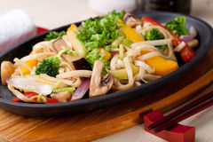 Udon with vegetables Stock Photos