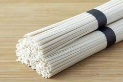 Udon wheat noodles Royalty Free Stock Photos