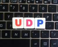 UDP da abreviatura no fundo do teclado fotos de stock royalty free