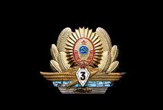 UDSSR-Offizier in der Armeeabzeichen Stockbilder