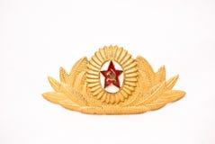 UDSSR-Offizier- in der Armeeschutzkappenabzeichen Lizenzfreie Stockfotografie