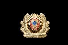 UDSSR-Offizier- in der Armeeschutzkappenabzeichen Stockfoto