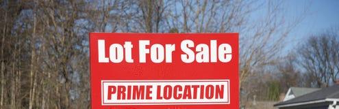 Udział dla sprzedaży w Pierwszorzędnej lokacji obraz royalty free