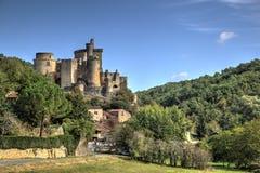 Udział, Garonne et Francja - kasztel Bonaguil, Fumel - obrazy stock