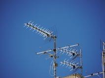 Udział satelitarne anteny Fotografia Royalty Free