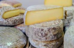 Udział ser sprzedawał przy miejscowego rynku serowym sklepem zdjęcie royalty free