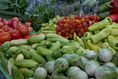 Udział warzywa przy rynkiem fotografia royalty free