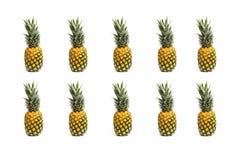 Udział wyśmienicie i soczyści ananasy zdjęcia stock