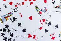 Udział zakurzeni starzy karta do gry obrazy royalty free