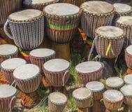 Udziały afrykańscy bębeny Fotografia Royalty Free