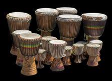 Udziały afrykańscy bębeny Obrazy Royalty Free