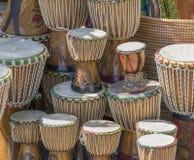 Udziały afrykańscy bębeny Zdjęcie Stock
