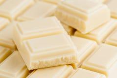 Udziały biała czekolada Zdjęcie Royalty Free