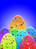 Gwiazdy Zakrywający jajka ilustracja wektor
