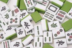 Udziały mah jong cegły na białym tle obraz royalty free