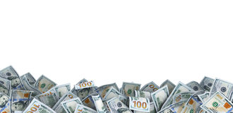 Udział 100 dolarowych rachunków Zdjęcia Stock