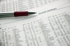 udział w rynku Obrazy Stock