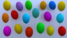 Udziały balonów 3D rendering Obraz Royalty Free