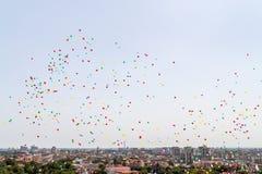 Udziały helowi baloons Zdjęcia Stock