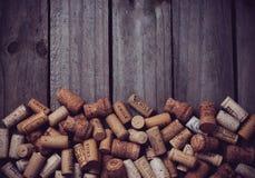 Udziały wino korki Obraz Royalty Free