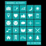 Udzielenie aktywności ikony set Obraz Stock