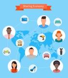 Udzielenie gospodarka i mądrze spożycia pojęcie ilustracji