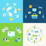 Udzielenie gospodarka i Współpracująca spożycia pojęcia ilustracja ilustracji