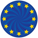 A UE badge Fotografia de Stock Royalty Free