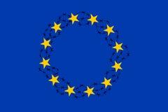 UE com arame farpado ilustração do vetor