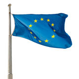 A UE de ondulação da União Europeia embandeira Fotografia de Stock